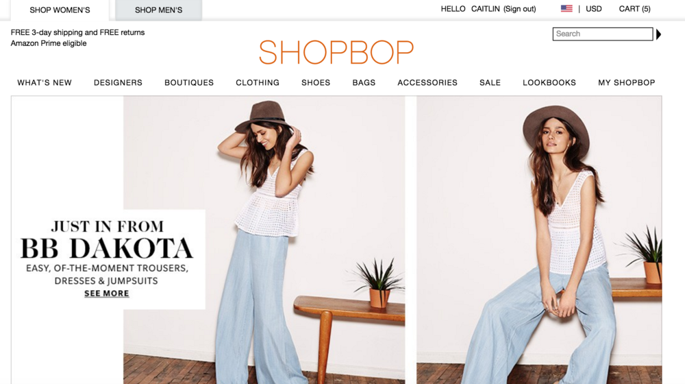 How to Shop with Shopbop
