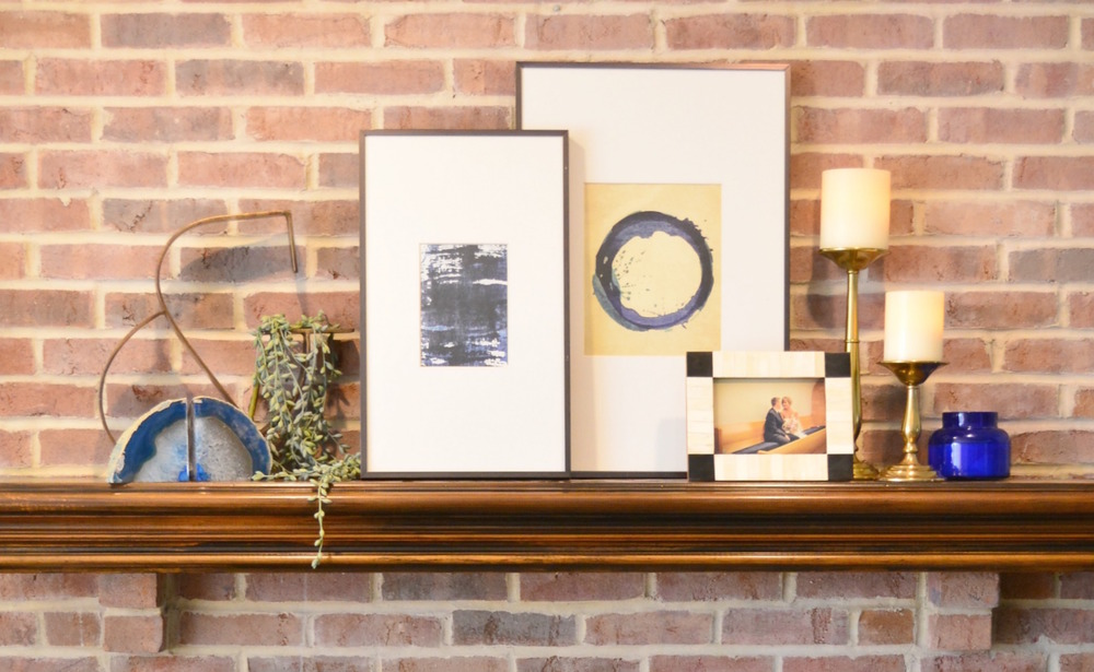 Revamp your mantel for Spring #shelfie