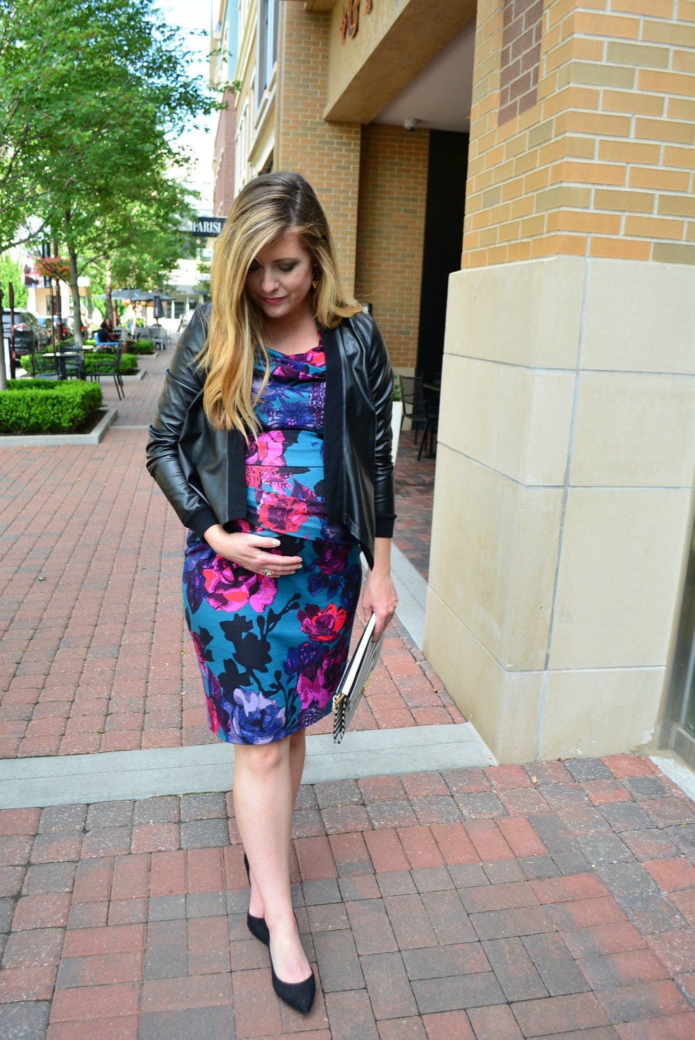 How to wear your baby shower dress out the same night!