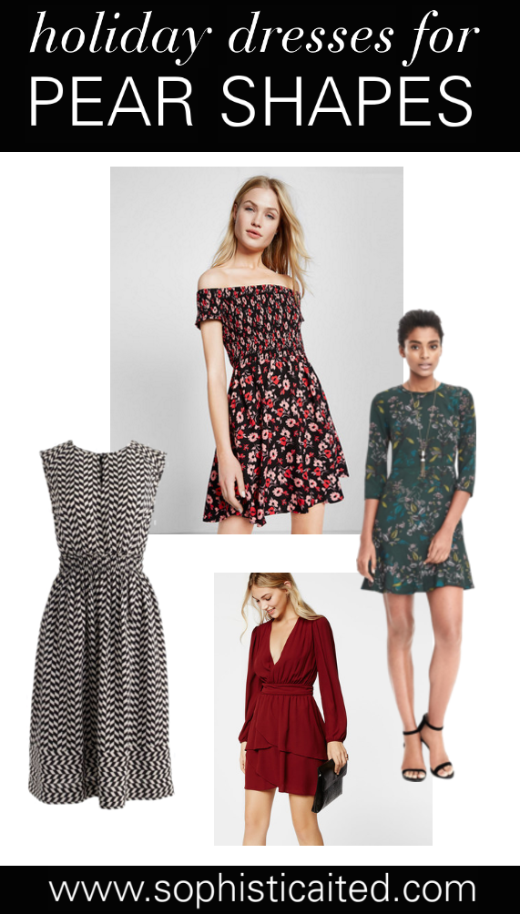 Holiday Dresses - pear shaped