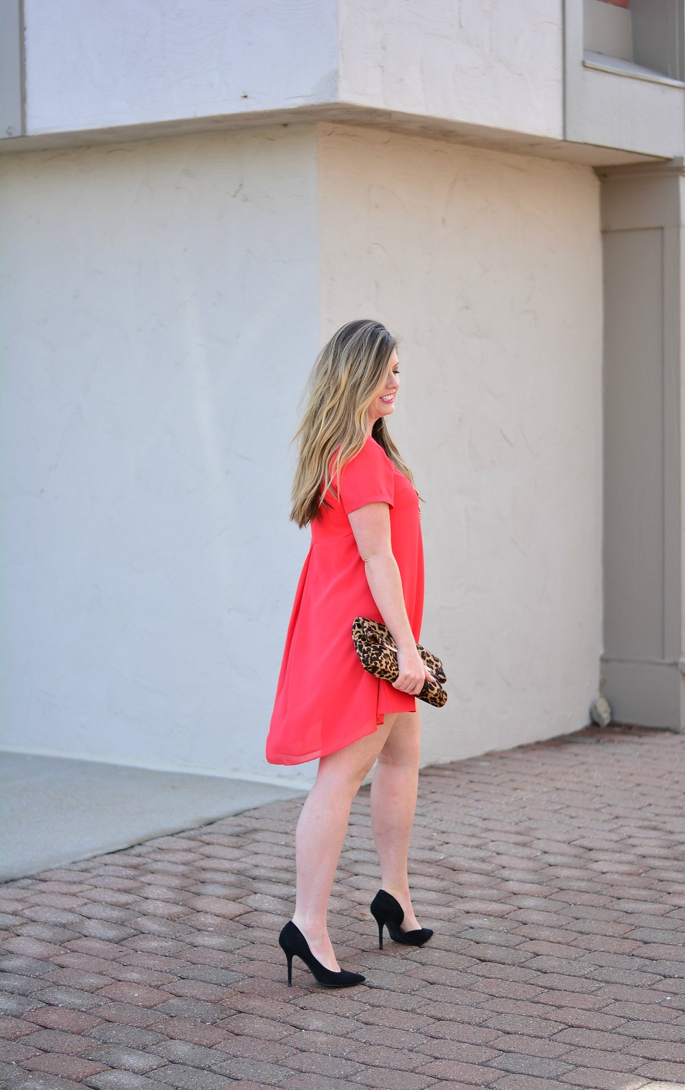 Red dress outfit
