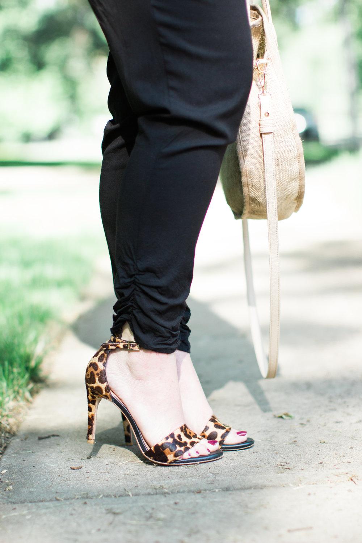 Leopard sandals