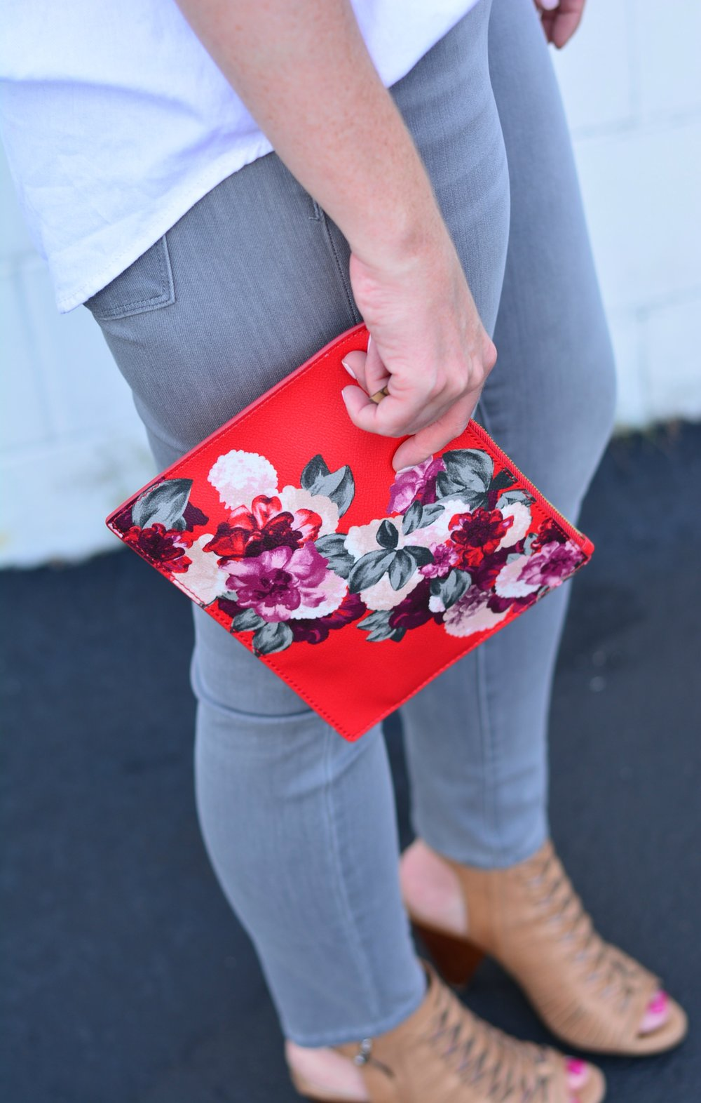 Banana Republic floral clutch
