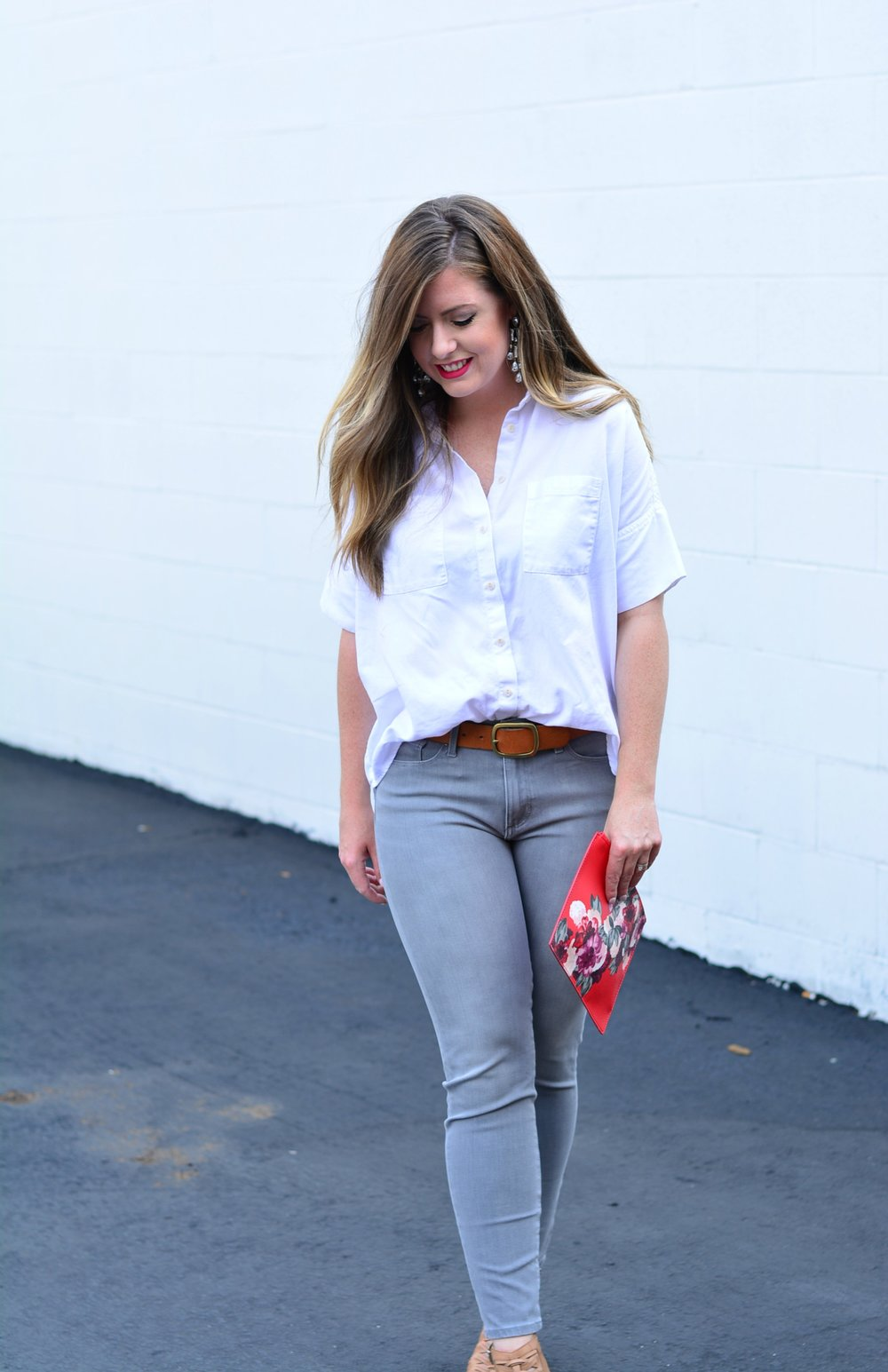 Banana Republic gray jeans