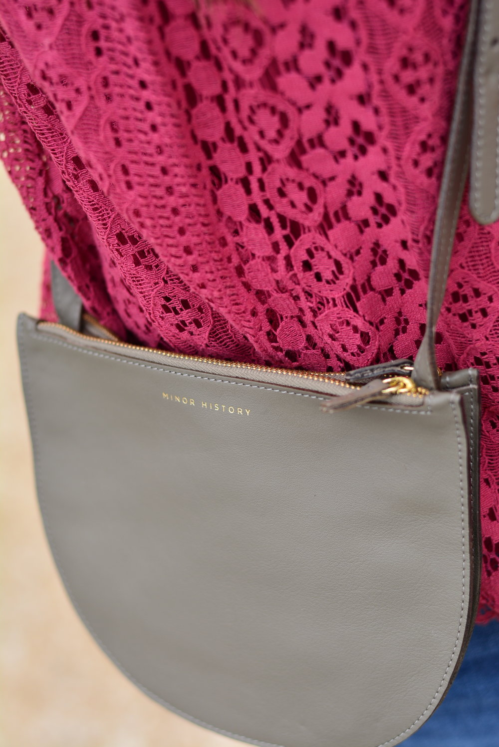 Gray crossbody - Minor History Smile