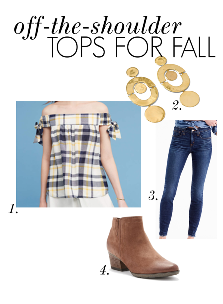 Off-the-shoulder tops for fall