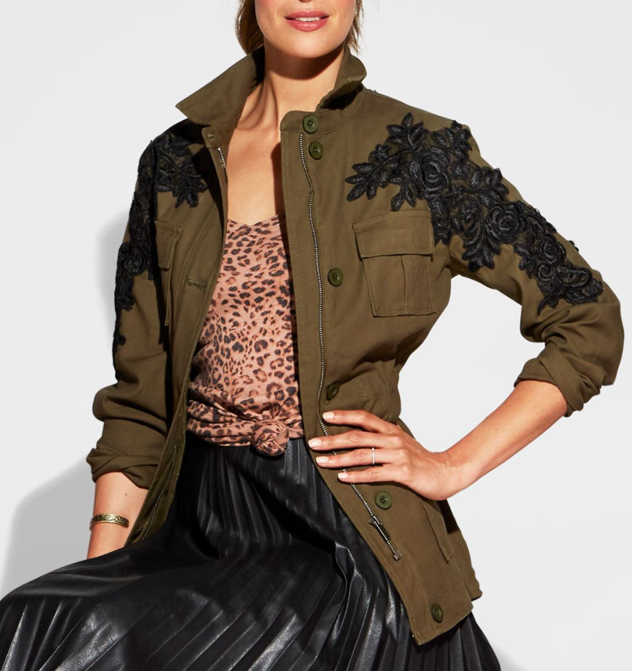 Green Cargo Jacket - $118 from EverEve
