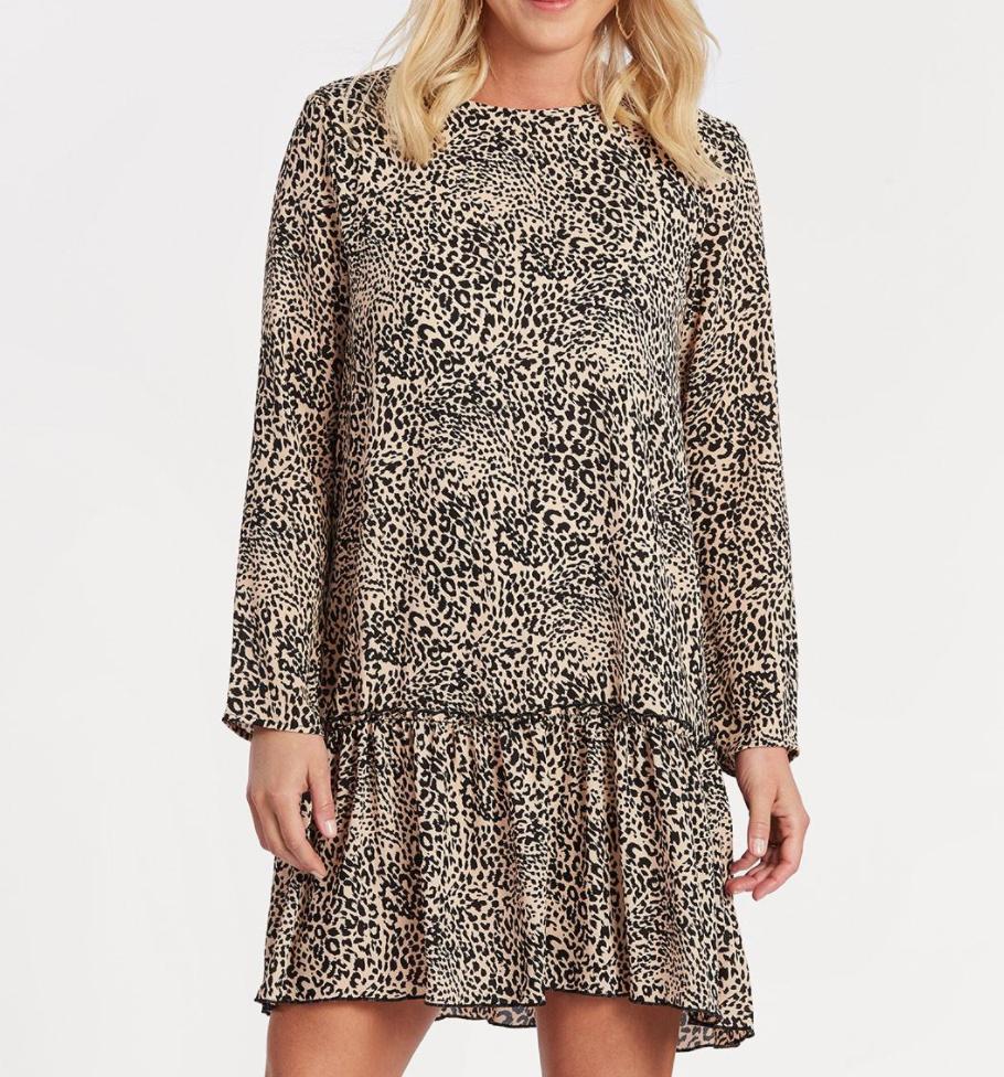 Leopard Ruffle Dress - $78 EverEve
