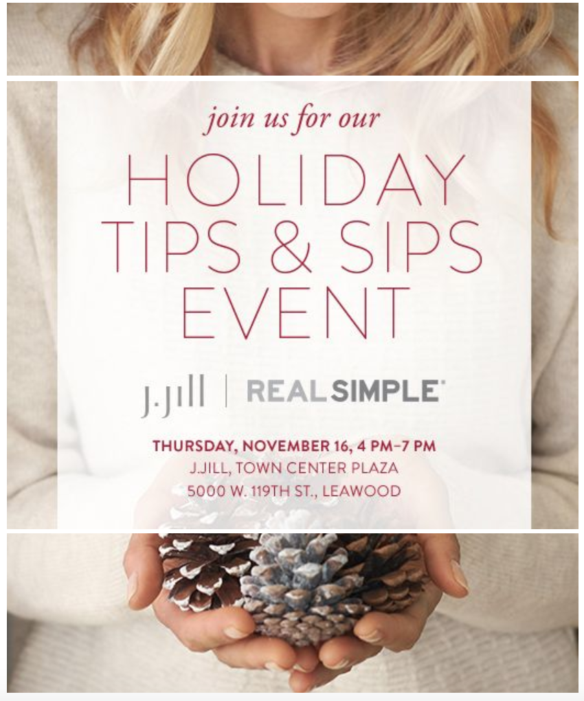 J.Jill Kansas City Holiday Shopping Event