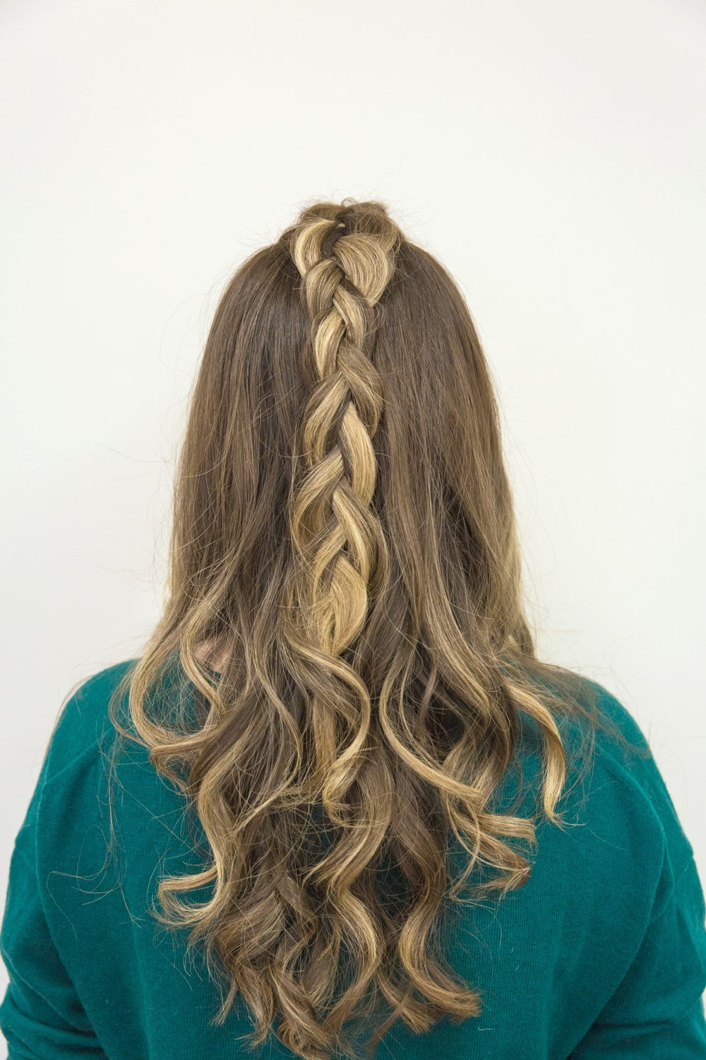 Holiday Hairstyle with curls and braids #BeautyBrands