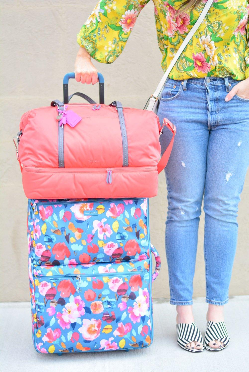 Vera Bradley luggage for Spring Break