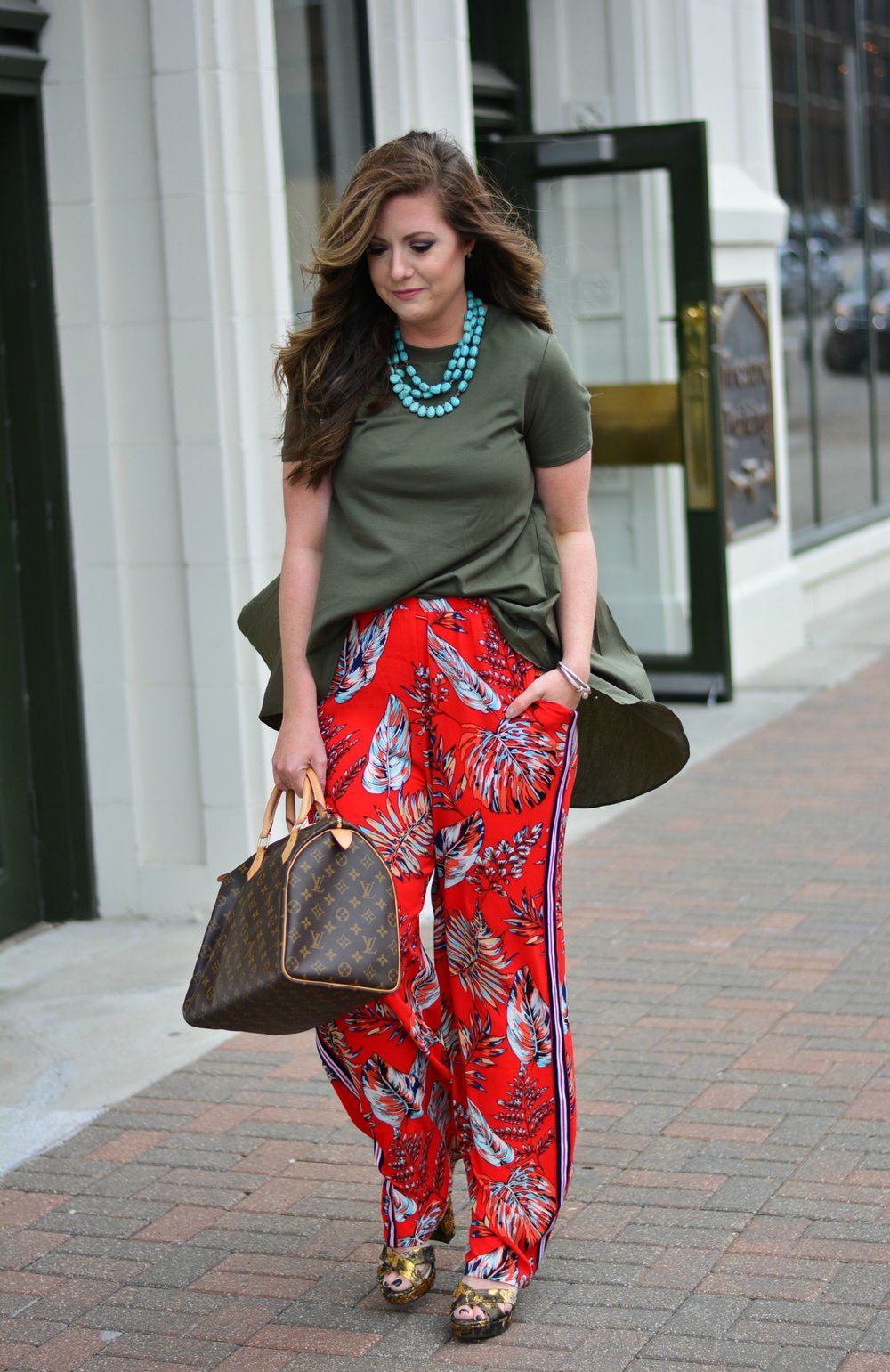Printed pants for spring
