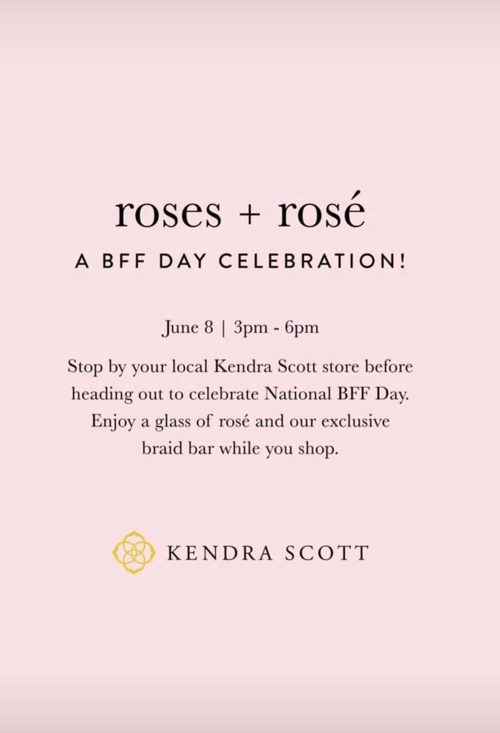 National Best Friends Day at Kendra Scott event in Kansas City