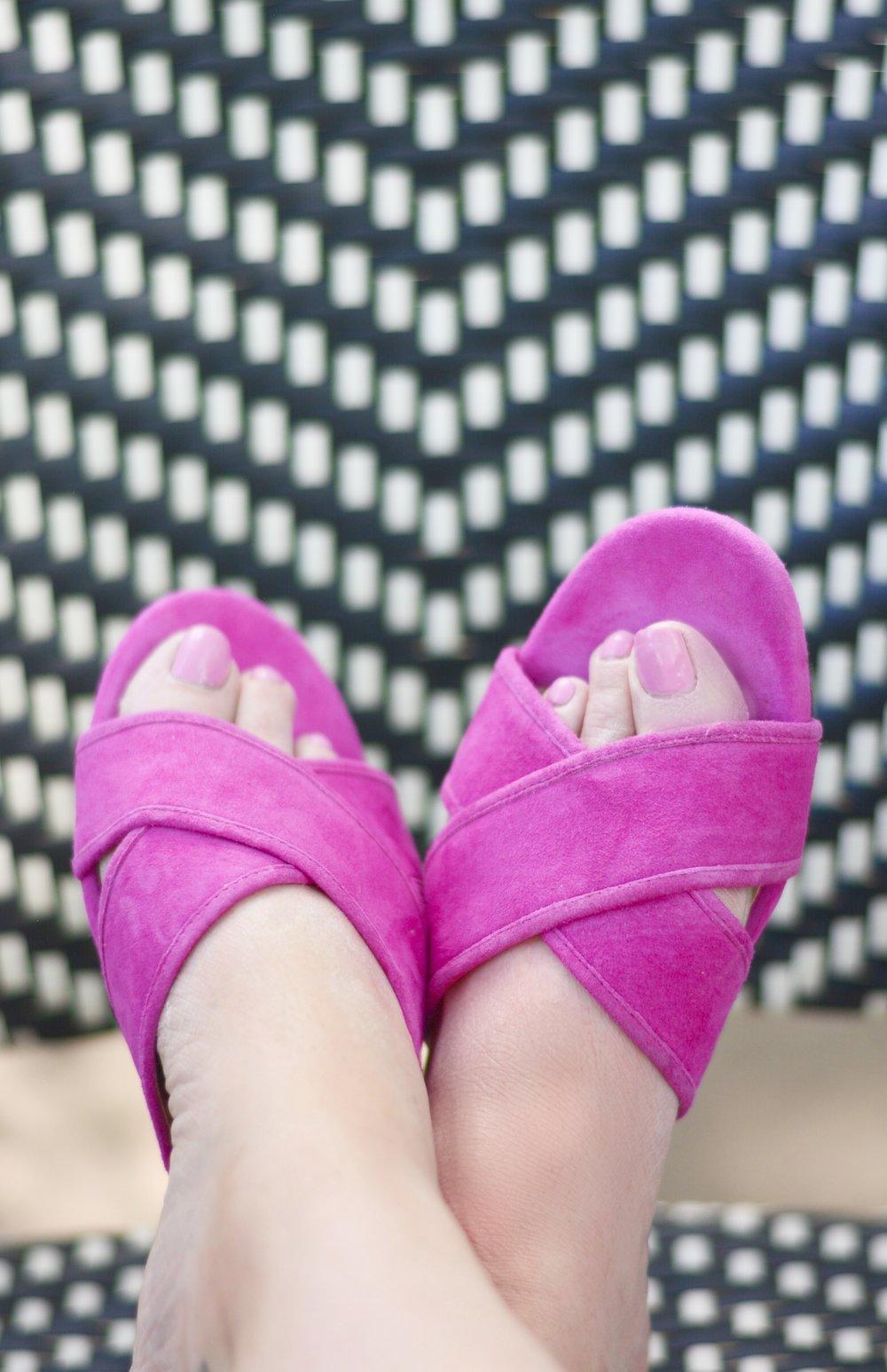 J.Crew suede sandals