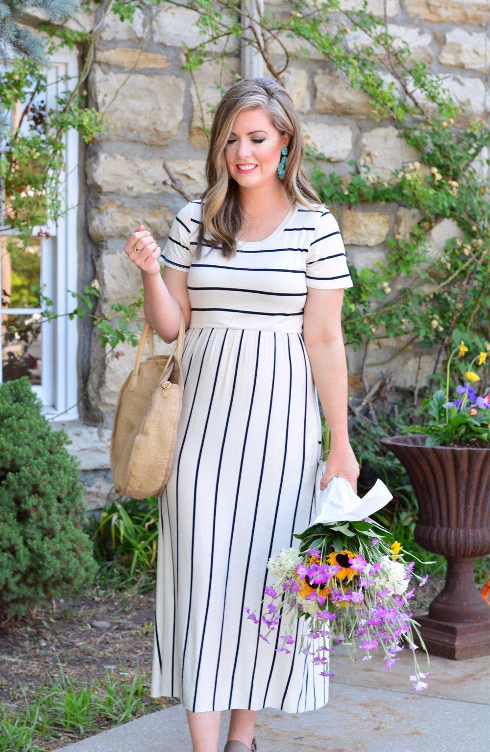 Stripe midi dress | Summer Fashion