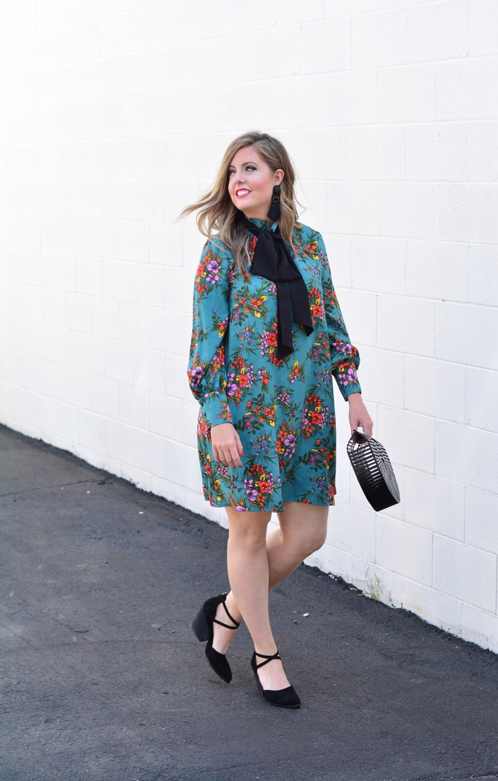 Floral Dress for fall and how to wear it now