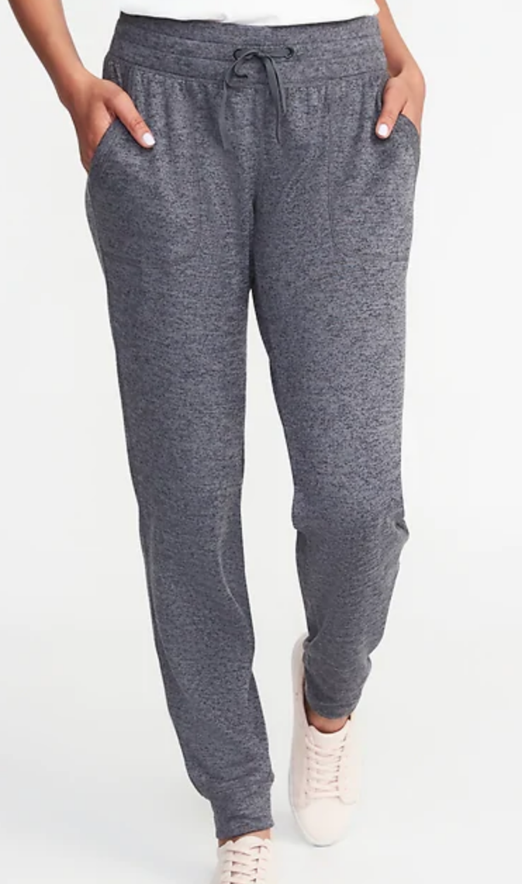 Gray cozy jogger pants