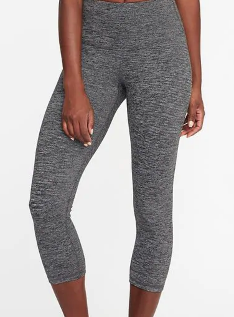 Gray high waisted workout pants