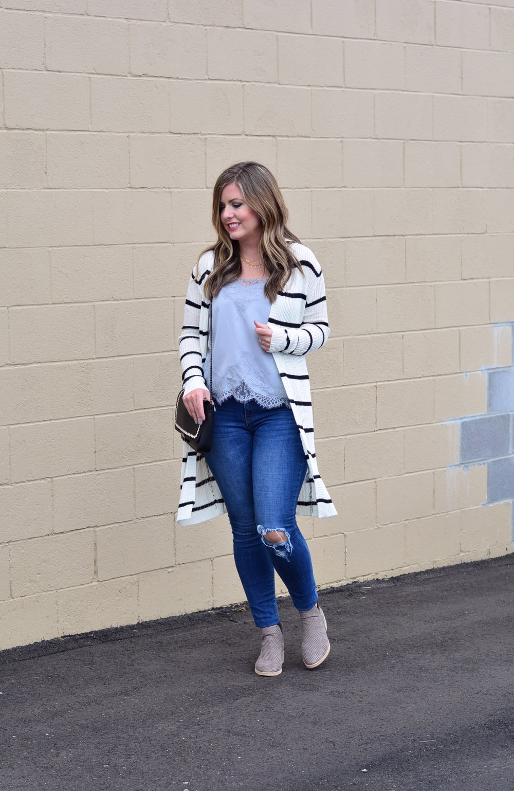 Stripe Maxi Cardigan Outfit