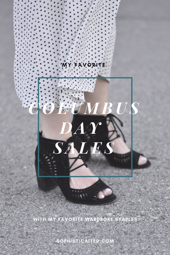 The Best Columbus Day Sales + My Favorite Wardrobe Staples
