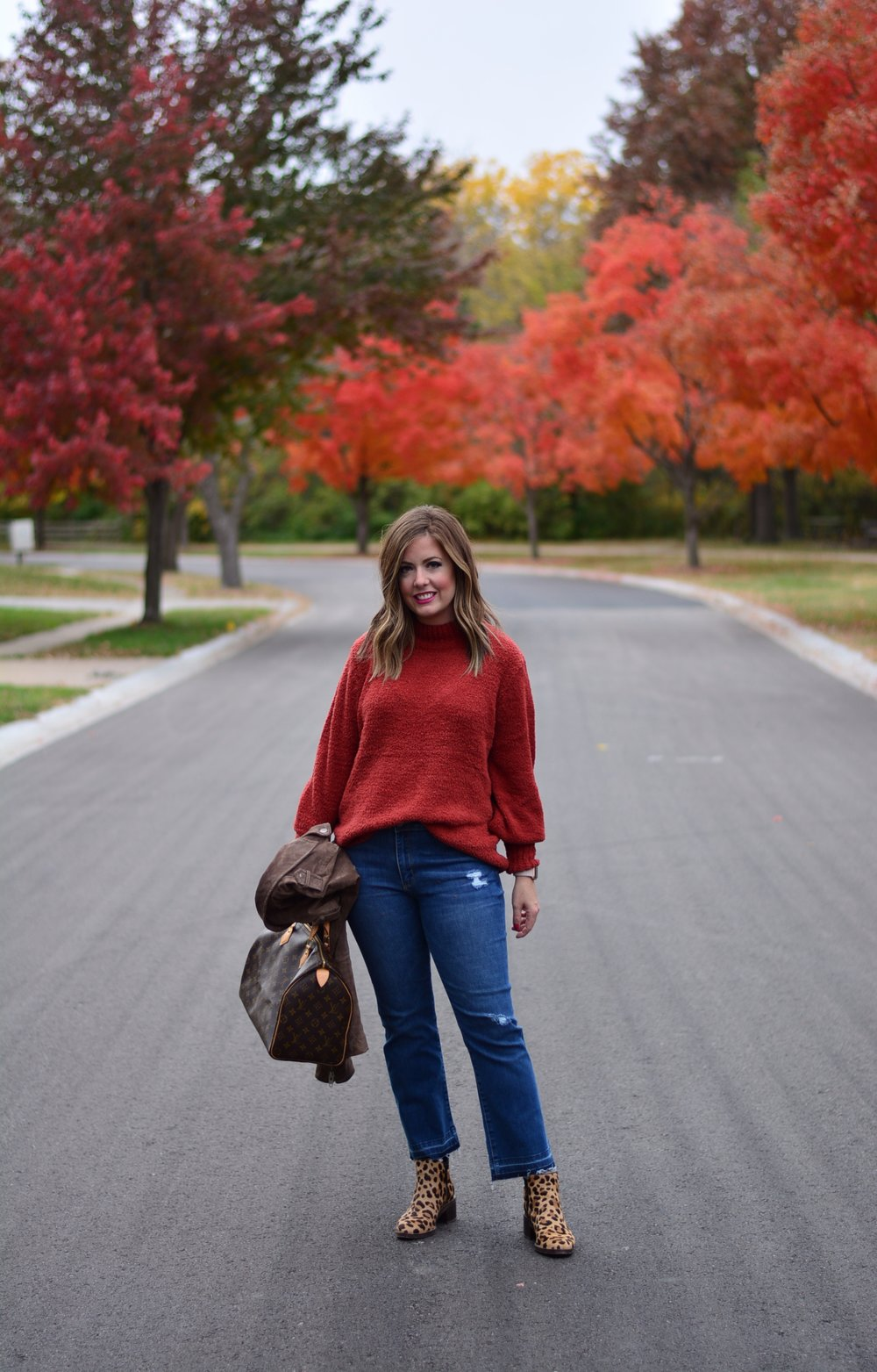 Burnt Orange Sweater outfit for Fall | Sophisticaited | Cait Fore