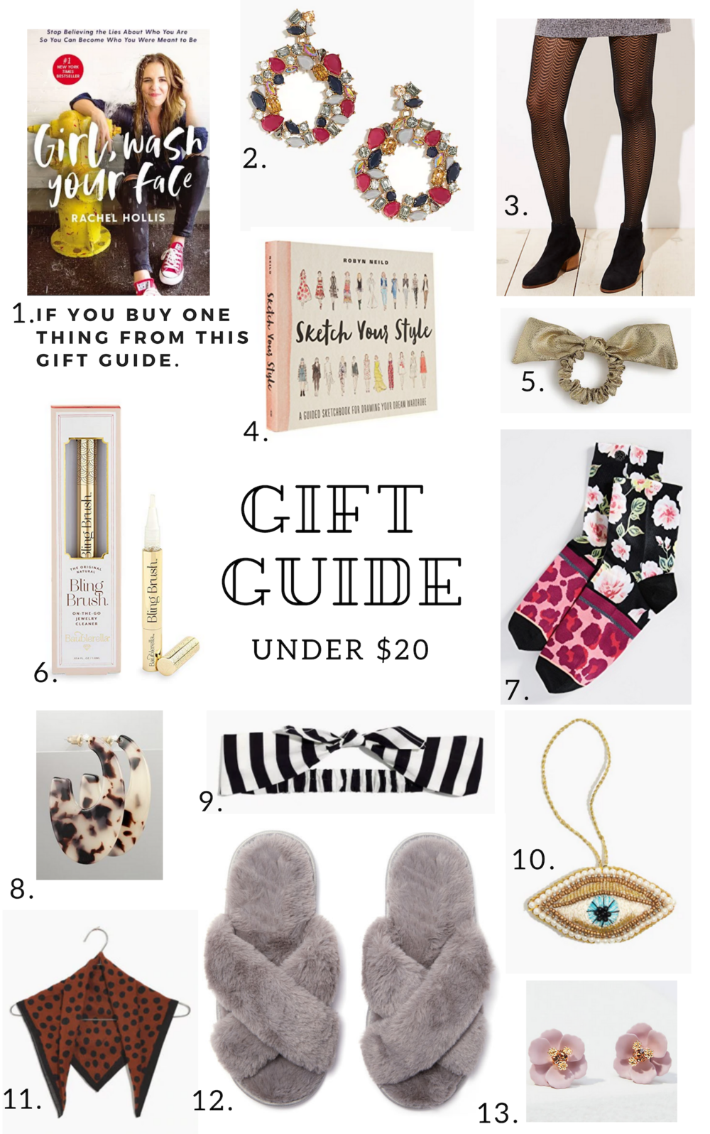 Gift Guide of gifts under $20