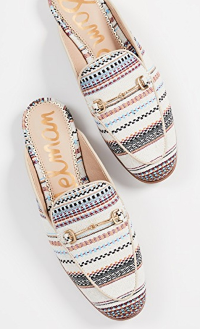 Summer Printed Mules - This style is perfect to wear with jeans, skinny pants for work, and mini dresses too!