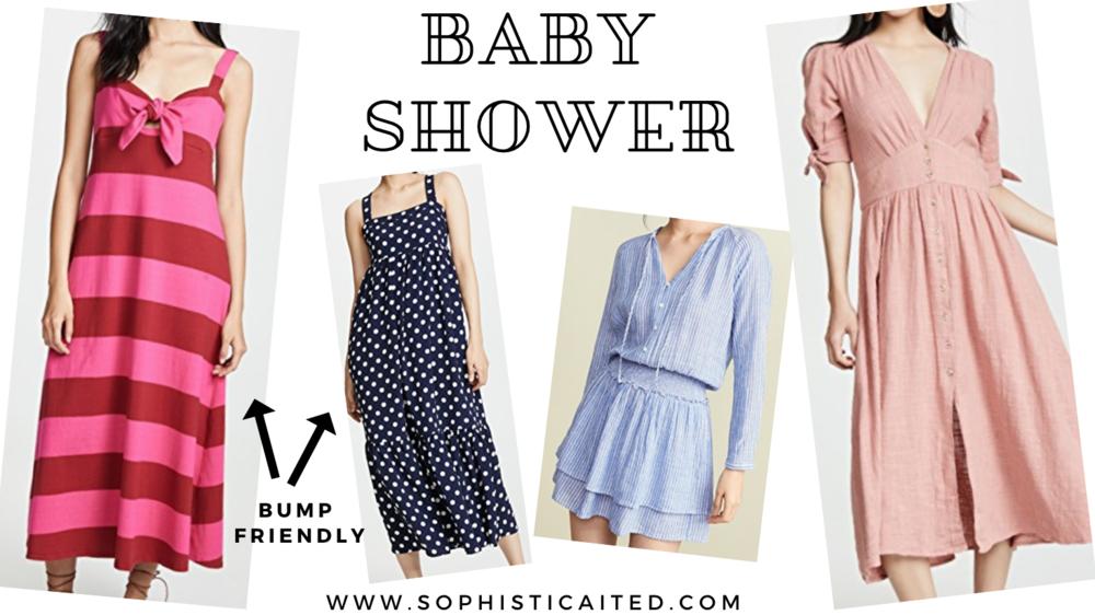 Baby Shower Dresses | Sophisticaited | Cait Fore
