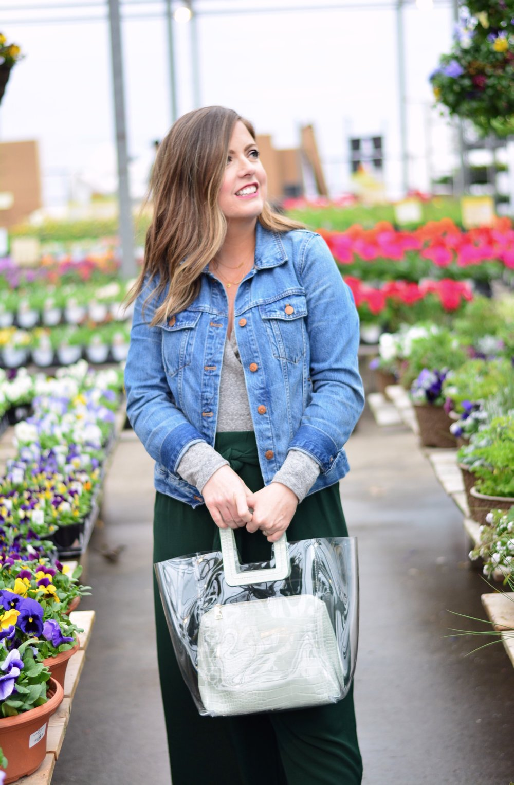 Spring layers + Clear Summer Bags | Sophisticaited | Cait Fore