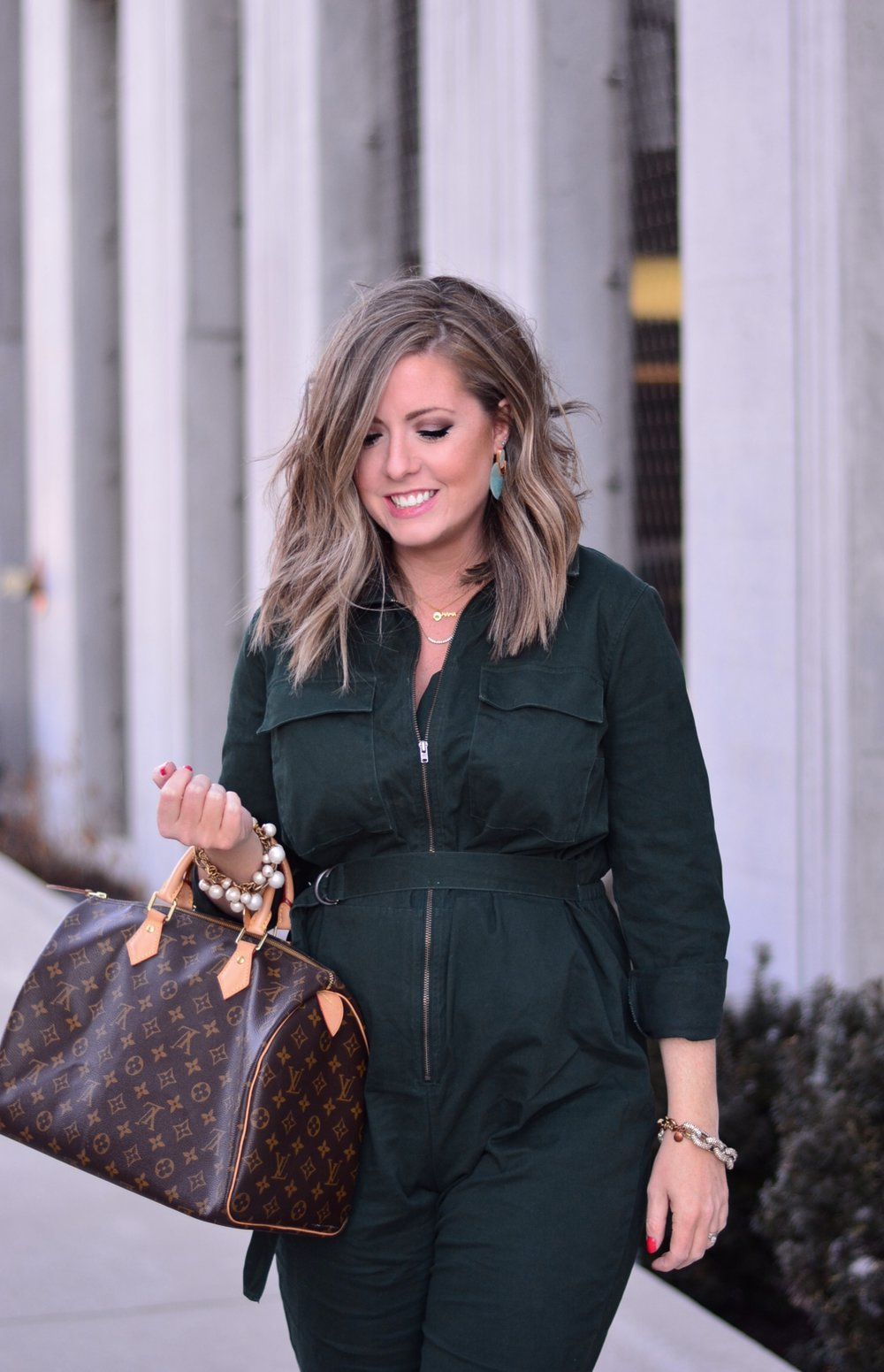 Target green jumpsuit | Sophisticaited | Cait Fore