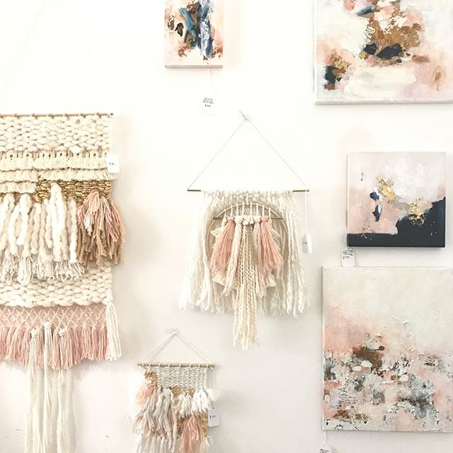 You guys... I'm so excited for gallery stroll this Friday night! We will be featuring the most gorgeous collection of artwork & weavings by @labrouckeart! You definitely need to come see these ones in person, so dreamy! 😻