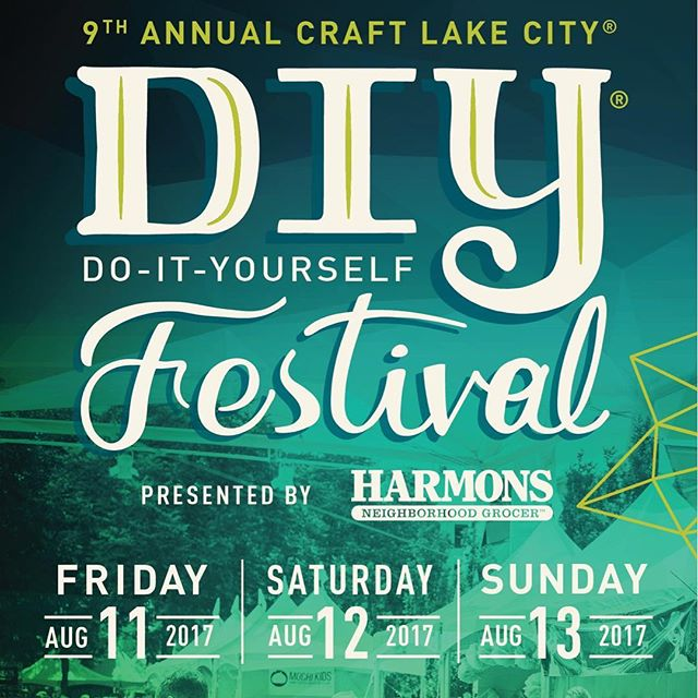 It's that magical time of year again!! @craftlakecity is my favorite local festival, and it is always a blast. Come see me tonight at Gallivan Plaza from 5-7, tomorrow 12-10, and Sunday 12-7. My booth is near the sun dial again!