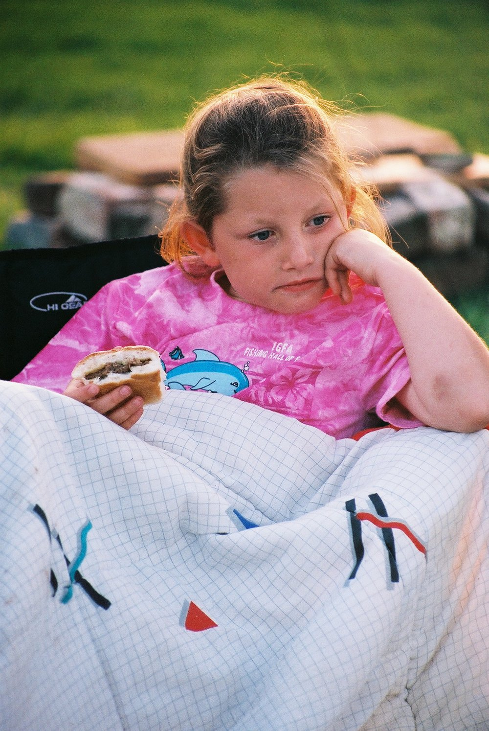 Girl at Barbecue.JPG