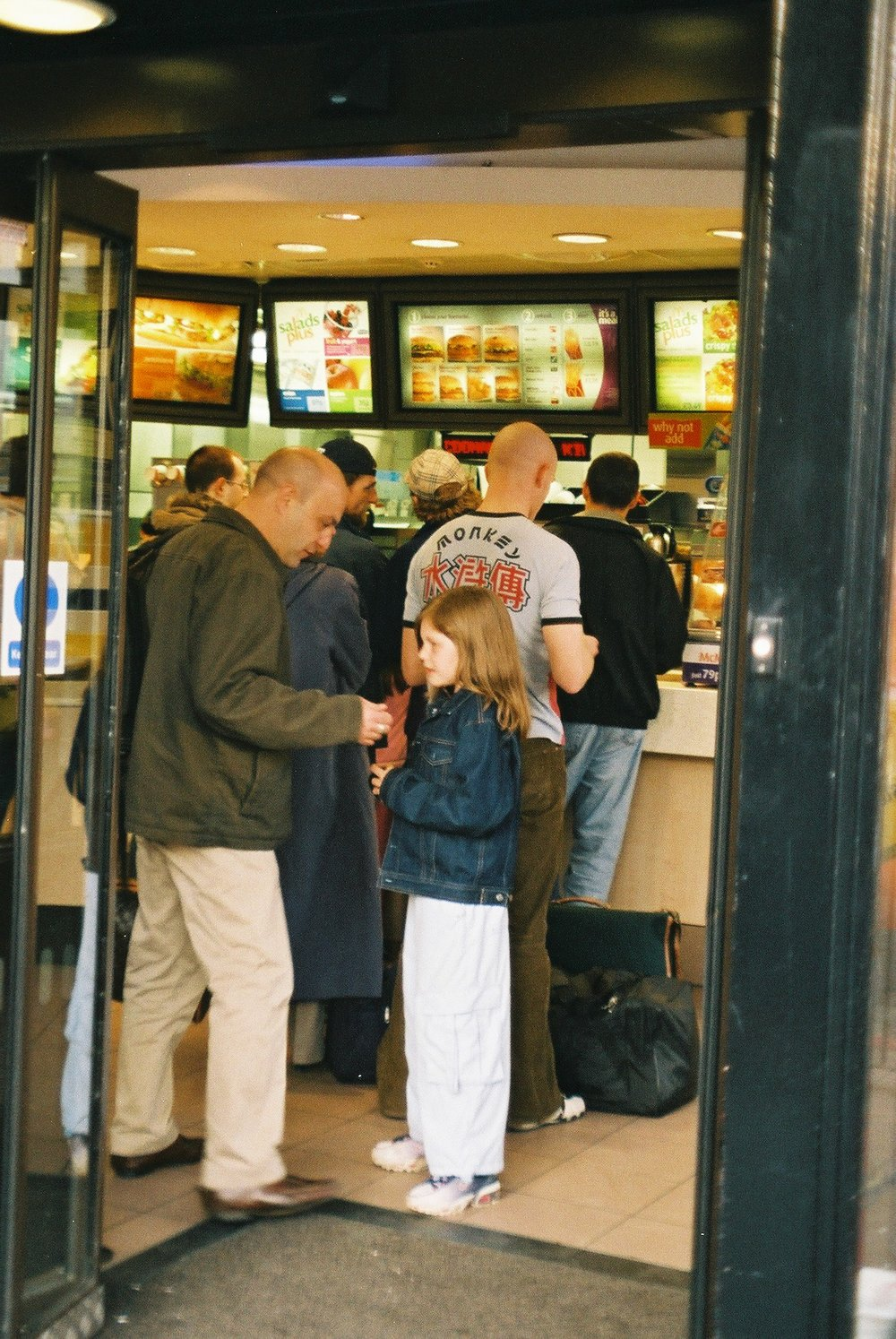 In Macdonalds, Kings Cross.JPG