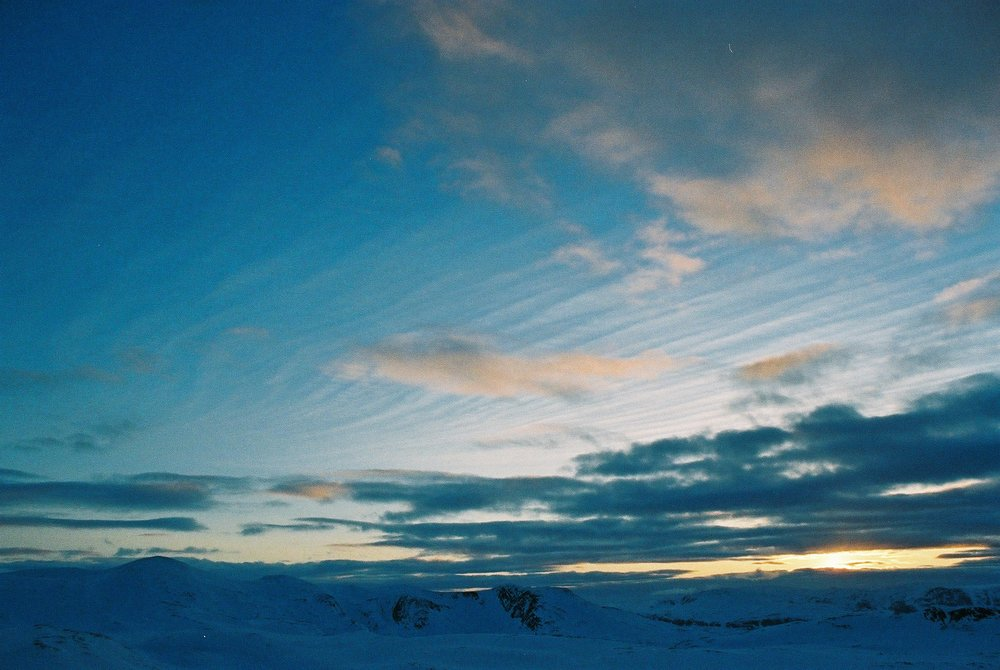 Sunset in the Arctic, Haldde Mountain.JPG