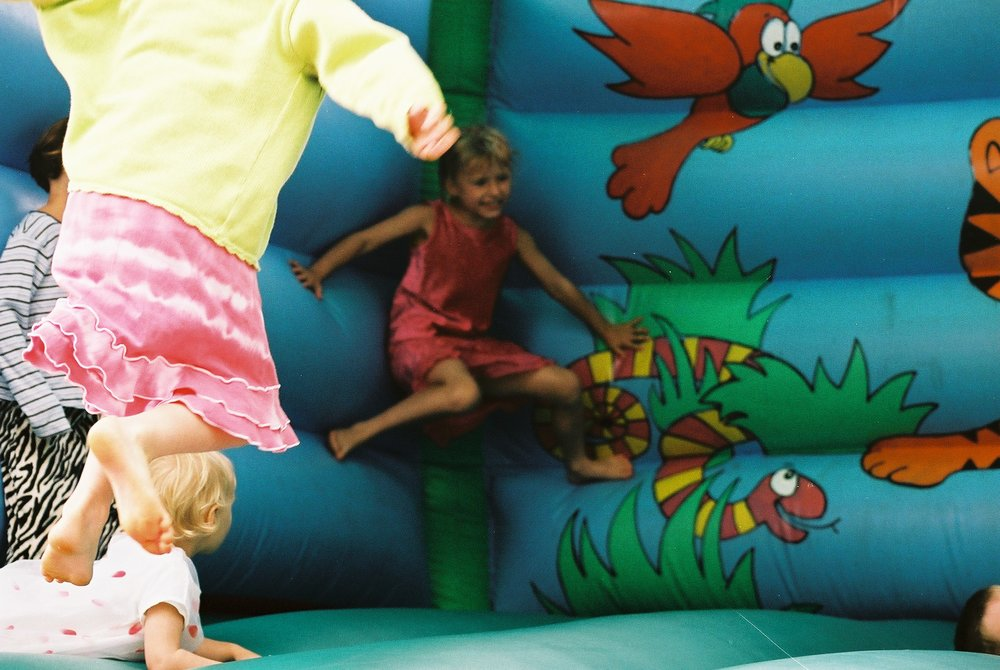 Bouncy Castle, Spernal Farm.JPG