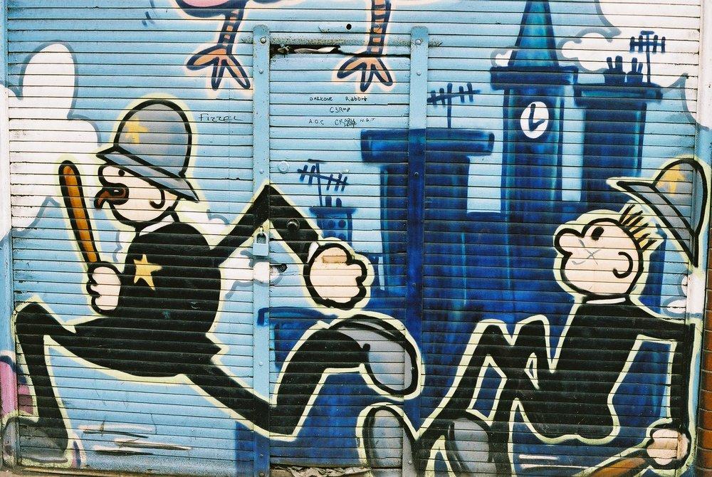 Keystone Cops, Islington.JPG