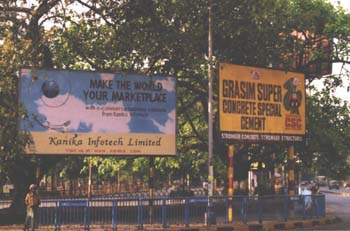 Advertising hoardings, Calcutta. (JAMES FLINT)