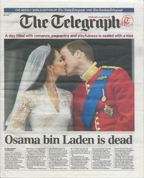 "The cover they called ""the greatest newspaper front page ever""."