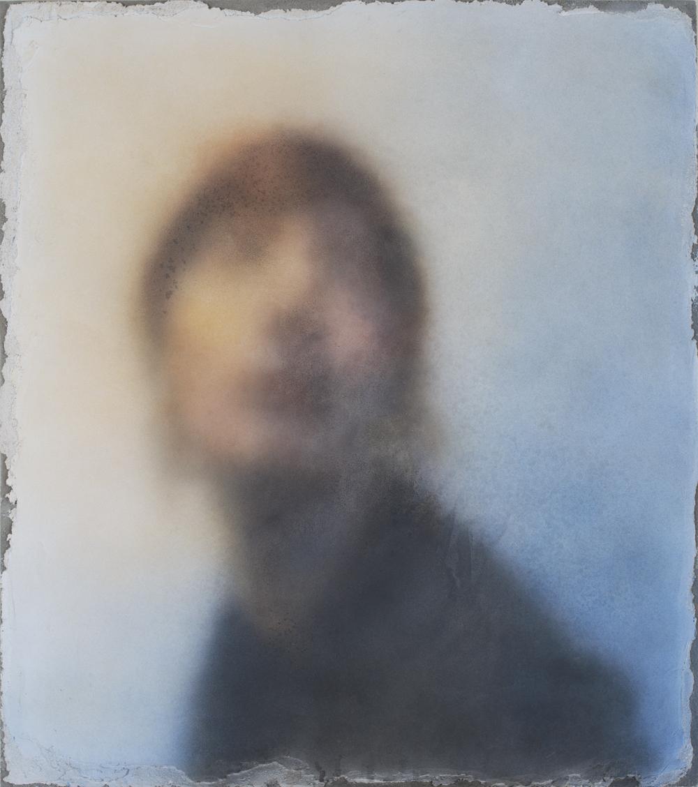 "Airbrushed buon fresco on magnesia board, 36x24"" 2018"