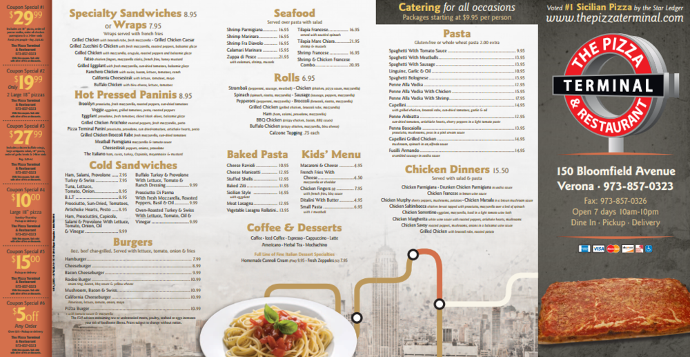 Check out our new updated menu, click for an enlarged image!