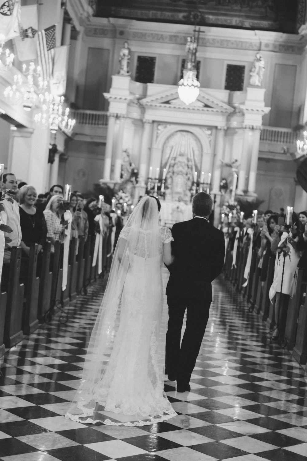 NEW ORLEANS, LA - April 18, 2015: Joffrion/DeLaRosa Wedding at the St. Louis Cathedral and Omni Hotel in New Orleans, Louisiana. (photo by Adrienne Battistella, 2015)