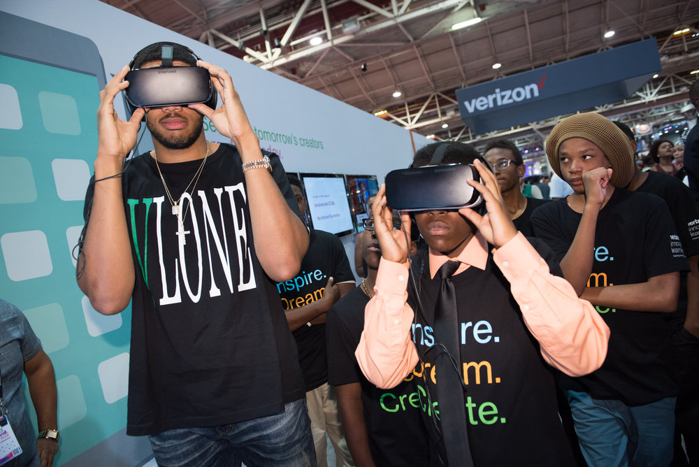 Verizon Booth during Essence Fest 2016