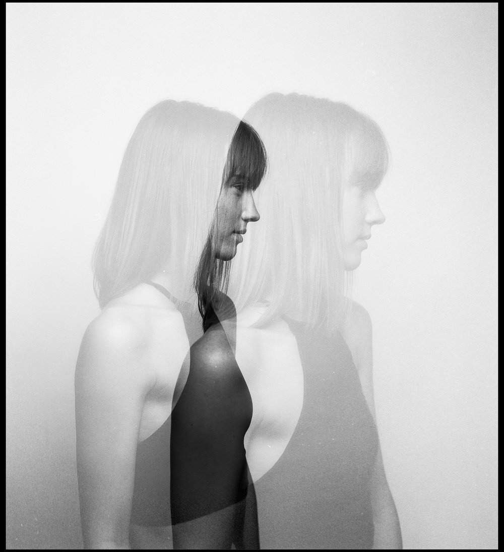 Double Exposure Portrait of Maddie