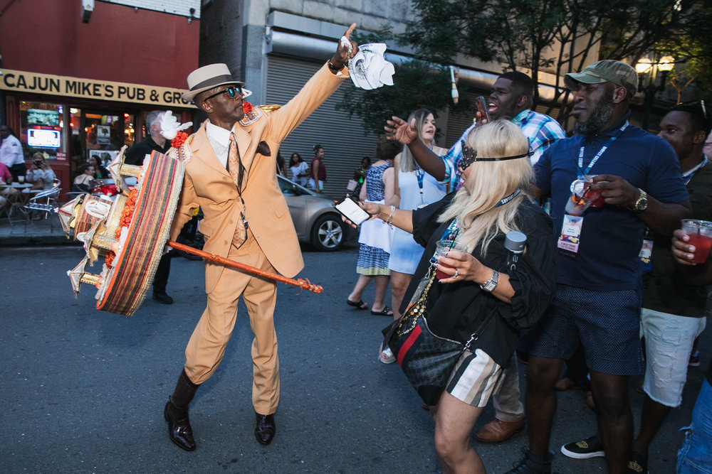 Second Line Parade for Corporate Event by Photographer Adrienne Battistella 2018