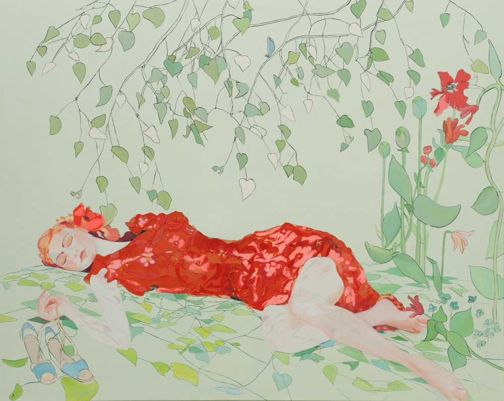 Summer Dreams II, Oil on canvas 2013, commission, 1.5m x 1m