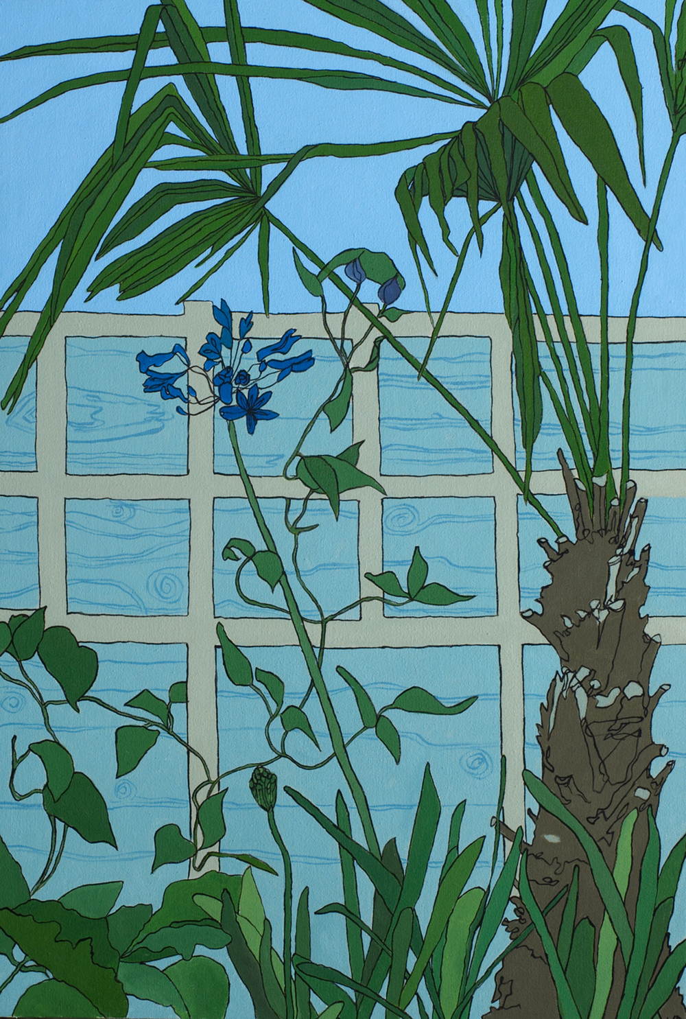 """Agapanthus"" framed print, February Auction"