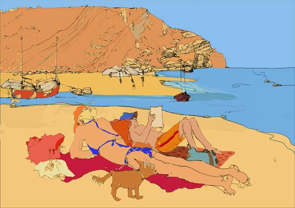Beach Scene 2008