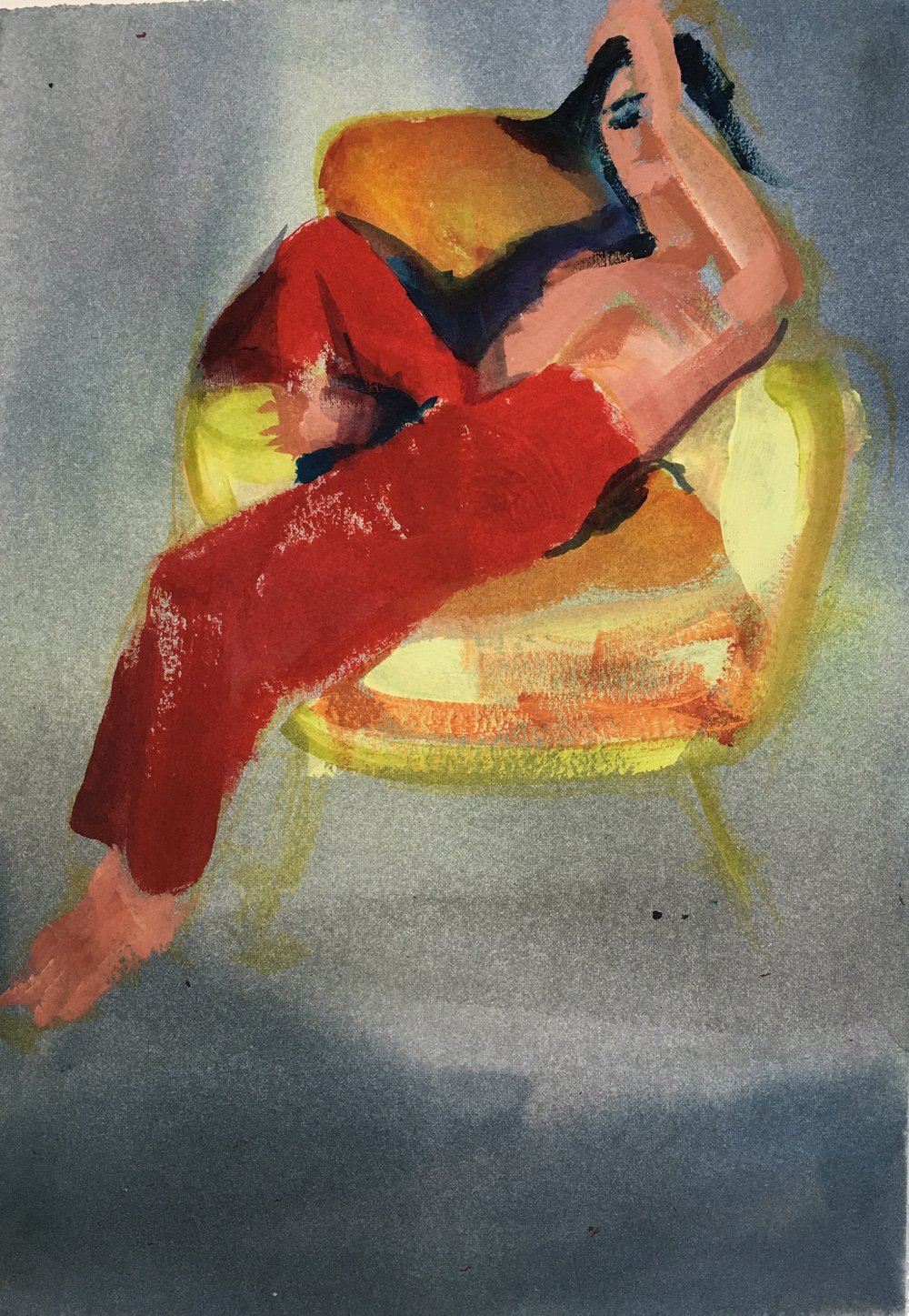 Yellow Chair Sketch