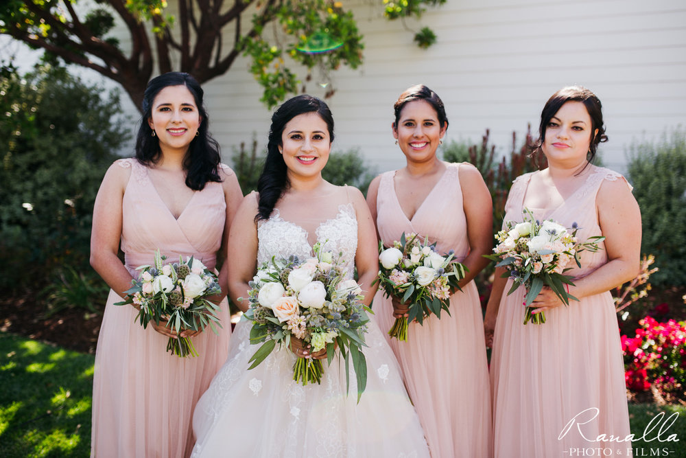 Cass House Wedding Photos-san luis obispo wedding photographer-Bridal Party